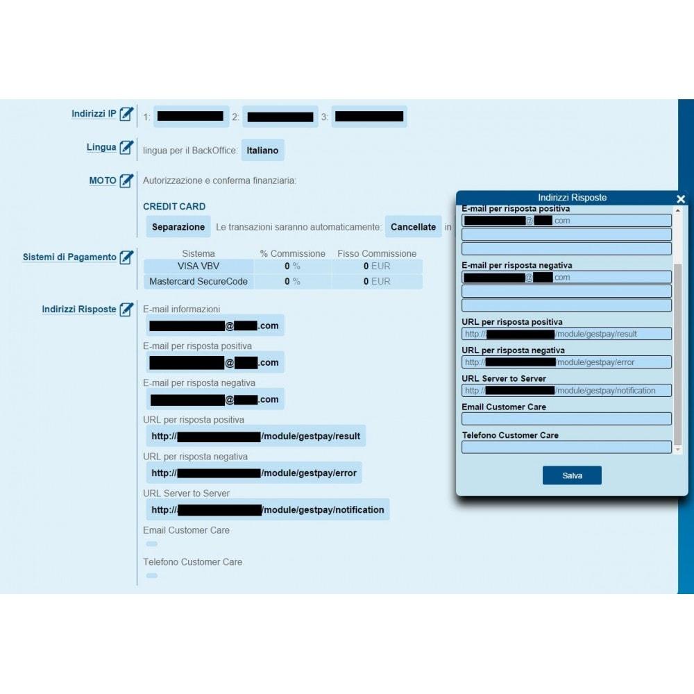 module - Pagamento con Carta di Credito o Wallet - GestPay di Banca Sella Avanzato Completo - 7