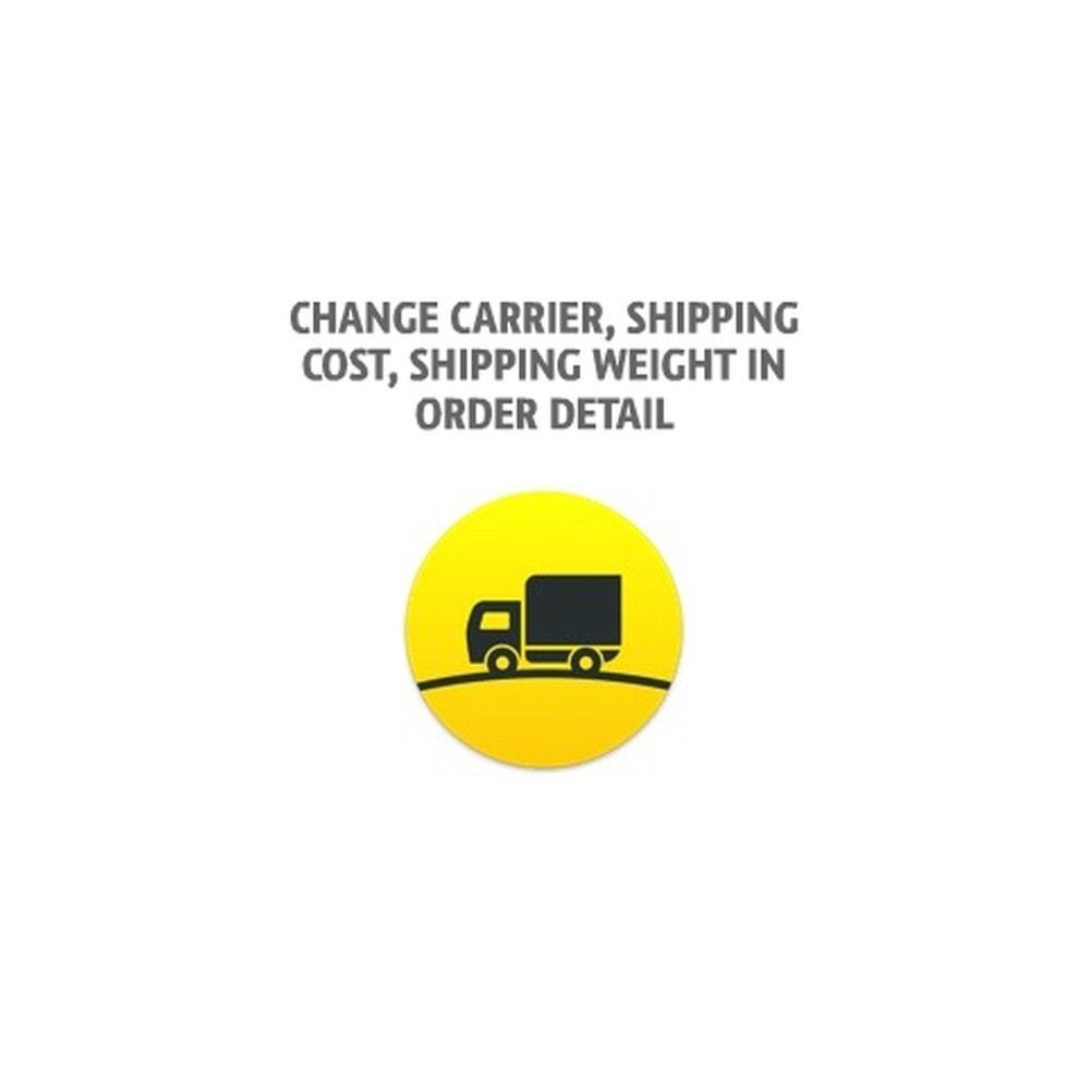 module - Перевозчики - Изменение способа доставки, стоимости доставки, веса - 1