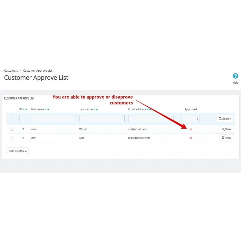module - Customer Administration - Approve Customer Account - 3