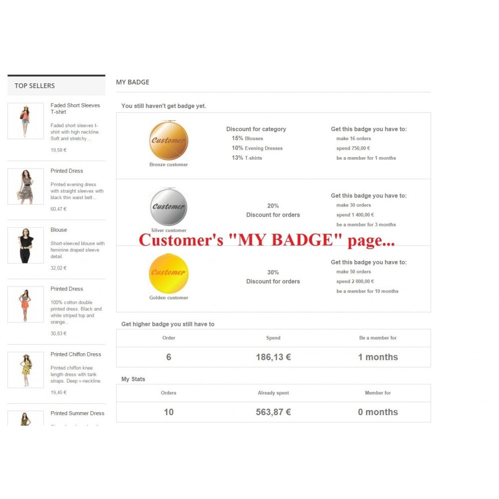 module - Fidélisation & Parrainage - Customer badge levels loyalty - 1