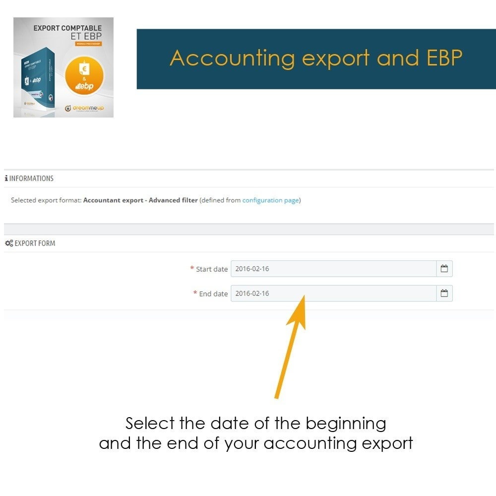 module - Integrazione (CRM, ERP...) - DMU Export Accounting CSV or EBP - 2