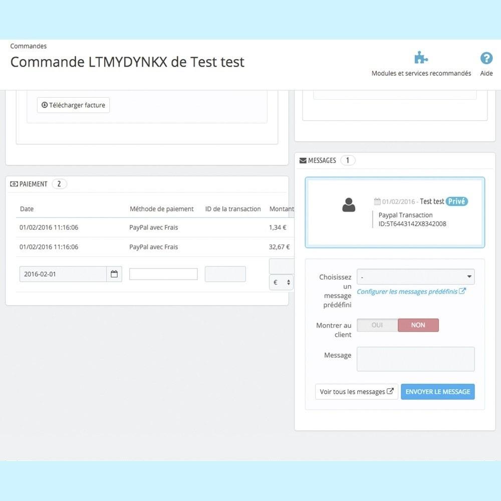 module - Paiement par Carte ou Wallet - Paypal avec Frais - 6