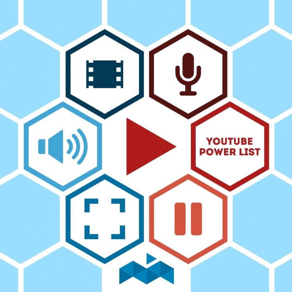 module - Vidéo & Musique - Power List Videos Youtube - 1