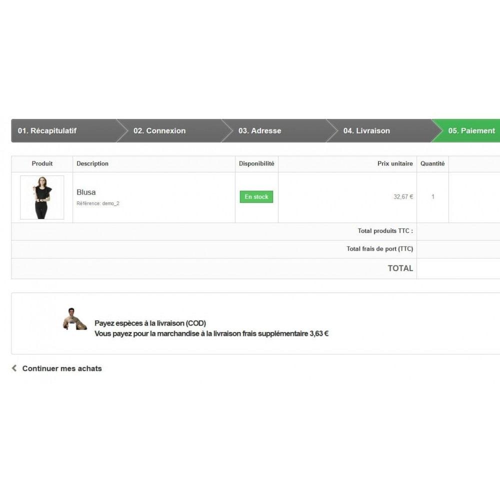 module - Paiement à la Livraison (COD) - PI - Paiement à la livraison (COD) surtaxe configurable - 2