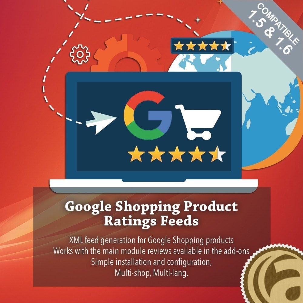 module - Отзывы клиентов - Google Shopping Product Ratings Feeds - 1