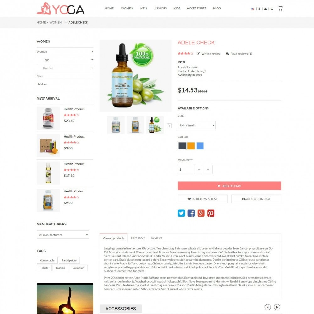 theme - Gezondheid & Schoonheid - Bio, Medical & Well-being Yoga Responsive Store - 6