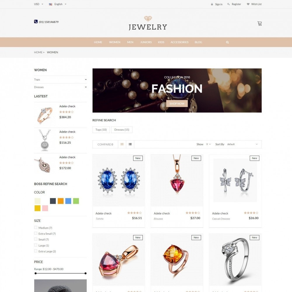 theme - Bellezza & Gioielli - Beauty & Jewelry Responsive Store - Amazing - 3