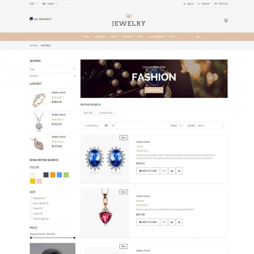 theme - Bellezza & Gioielli - Beauty & Jewelry Responsive Store - Amazing - 4