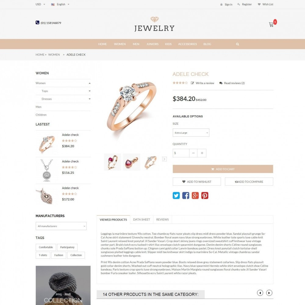 theme - Jewelry & Accessories - Beauty & Jewelry Responsive Store - Amazing - 5