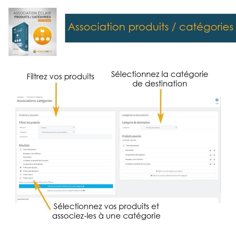 module - Edition rapide & Edition de masse - DMU Association éclair Produits / Catégories - 2