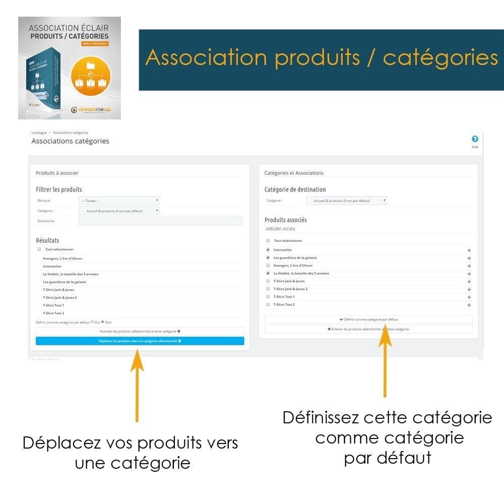 module - Edition rapide & Edition de masse - DMU Association éclair Produits / Catégories - 5