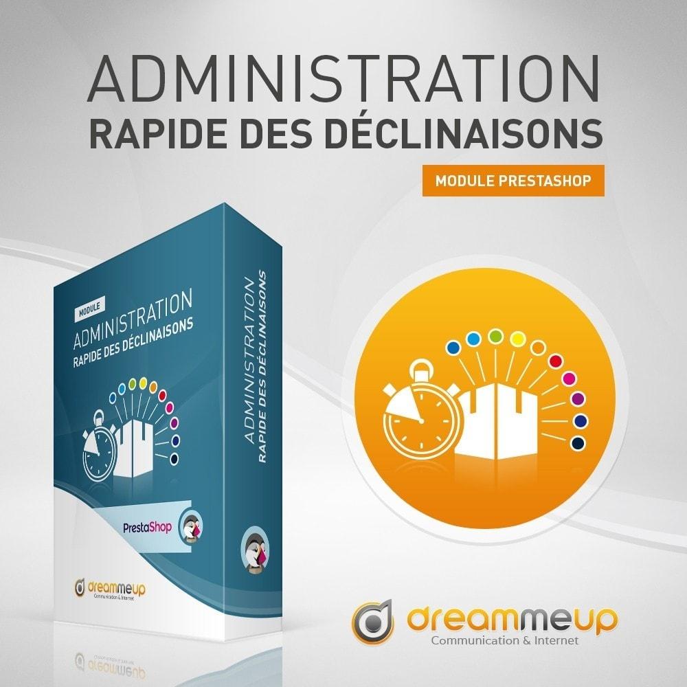 module - Outils d'administration - DMU Administration rapide des déclinaisons - 1