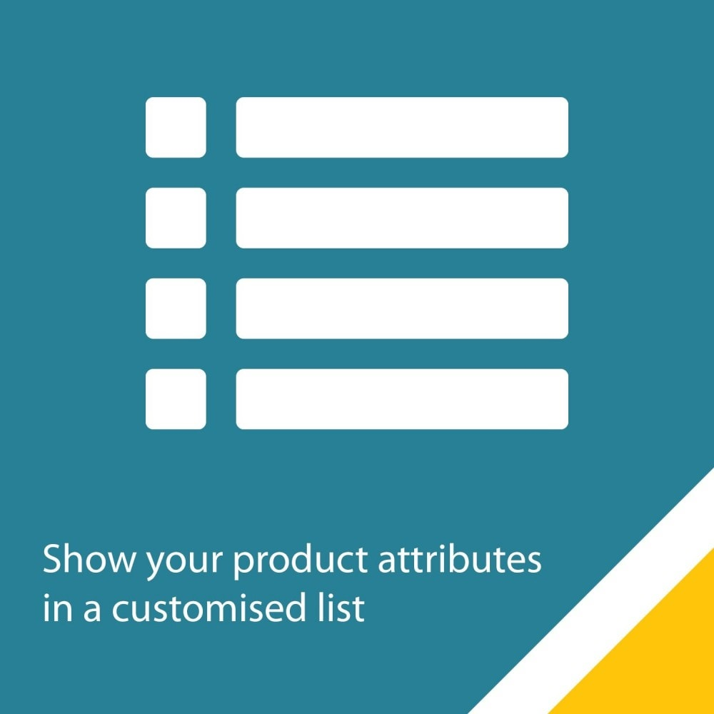 module - Stock & Supplier Management - AttributeList – Customized list of attributes - 1