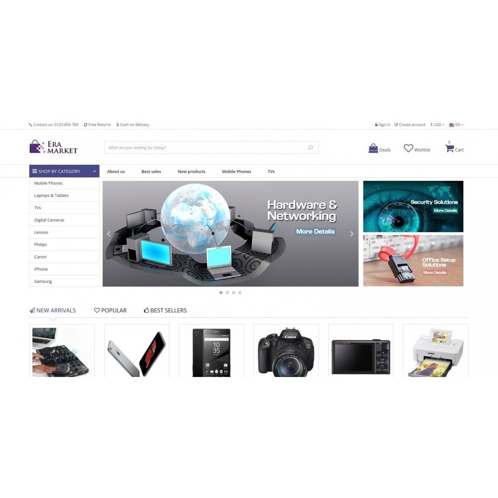 theme - Electronique & High Tech - Eramarket Responsive - 2