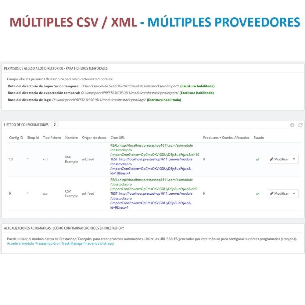 module - Importación y Exportación de datos - Actualizar datos CSV/XML vía URL/FTP cronjob compatible - 2