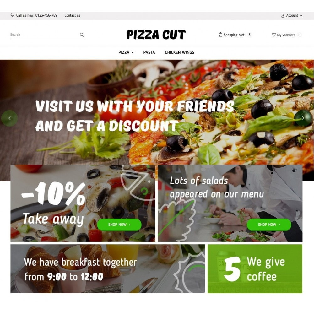 theme - Продовольствие и рестораны - Pizza Cut 1.6 Responsive - 2