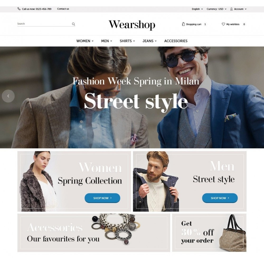theme - Fashion & Shoes - Wearshop 1.6 Responsive - 2