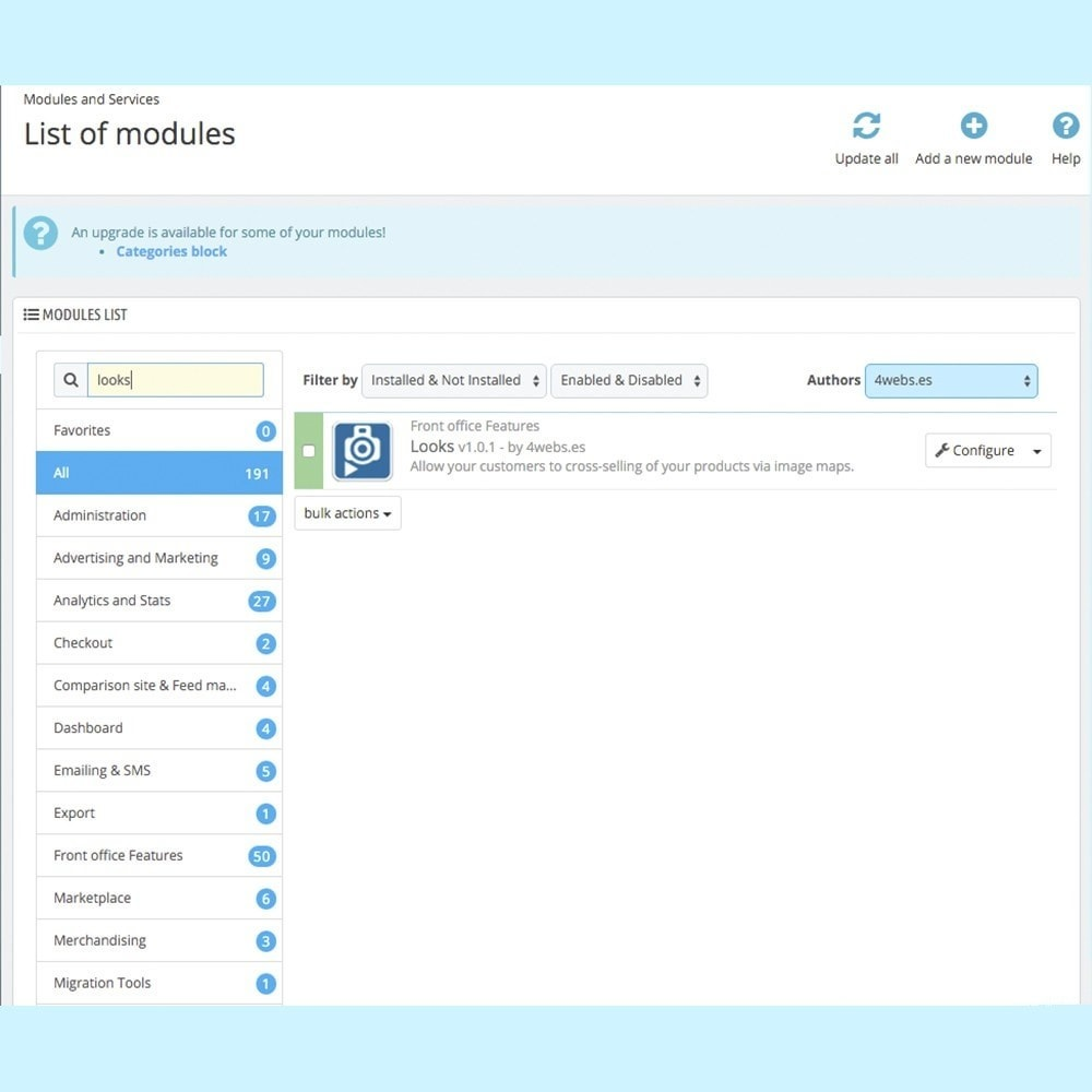 module - Personalizacja strony - Looks - 2