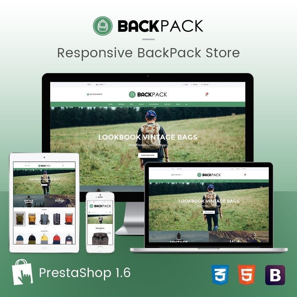 theme - Jewelry & Accessories - Bags & Luggage - Backpacks Responsive Store - 1
