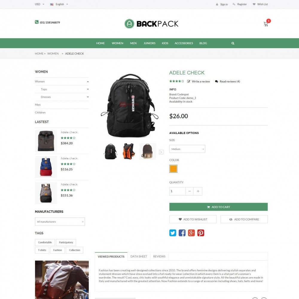 theme - Jewelry & Accessories - Bags & Luggage - Backpacks Responsive Store - 5