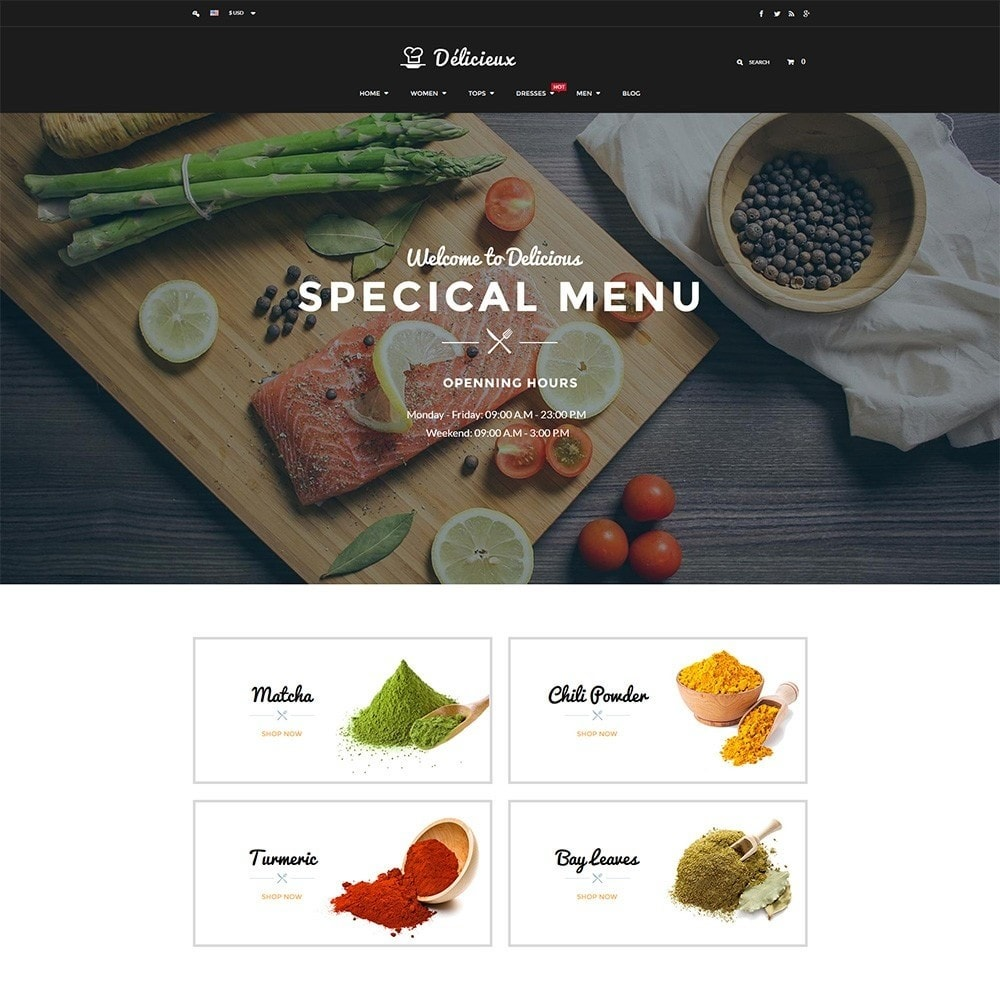 theme - Alimentation & Restauration - Water Delicieux Food Store - 2
