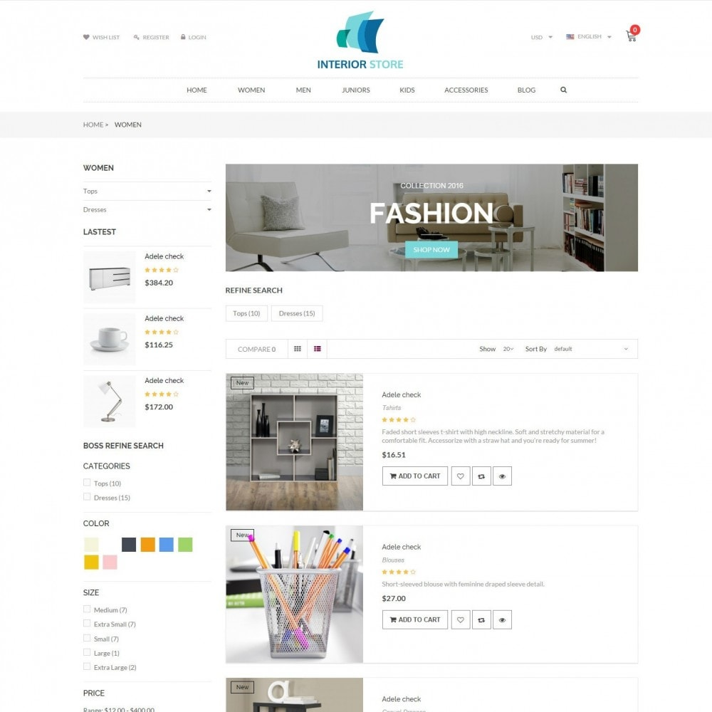 theme - Home & Garden - Home & Furniture - Interior Responsive Store - 4