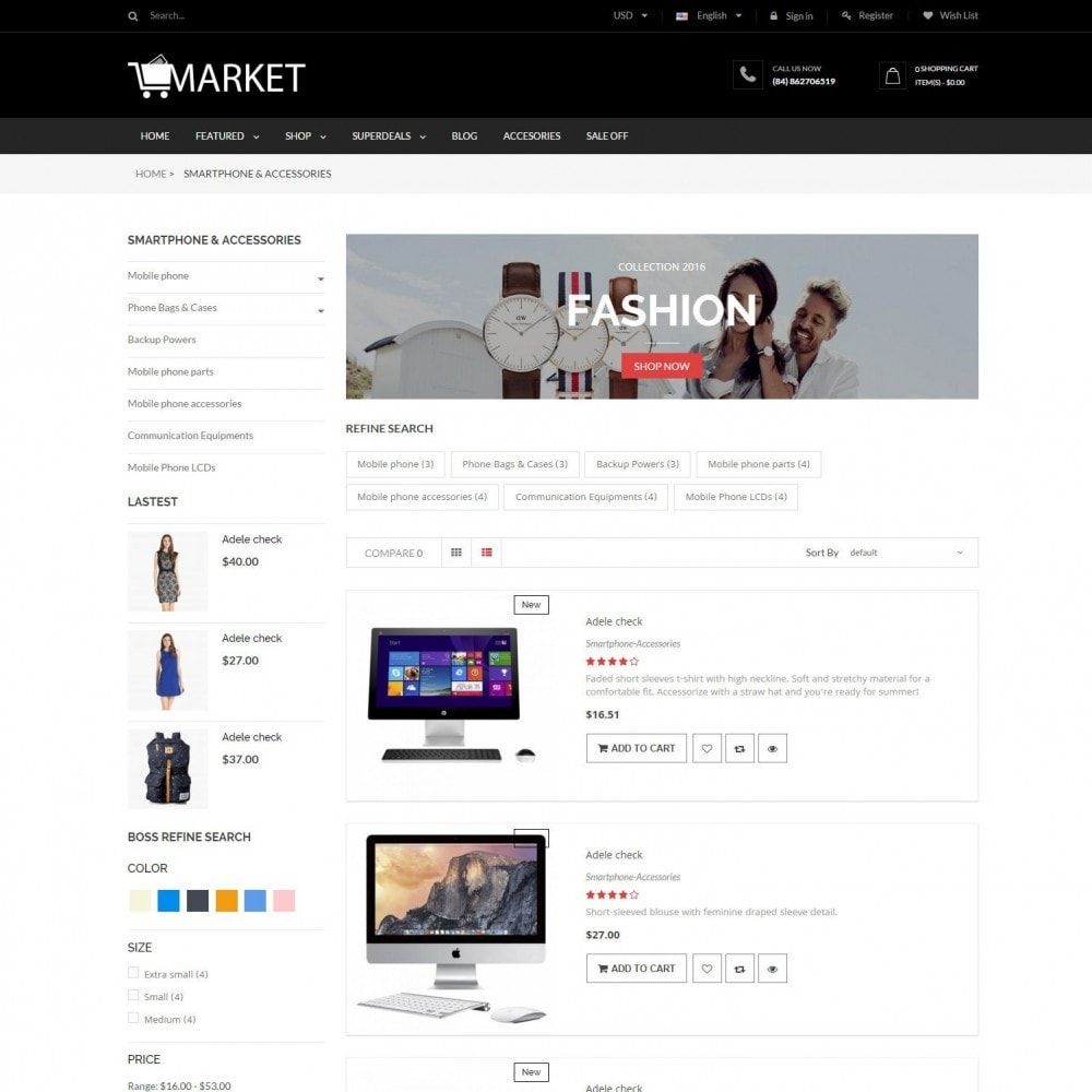 theme - Elektronik & High Tech - Fashion, Hightech & Baby - Market Responsvie Store - 4