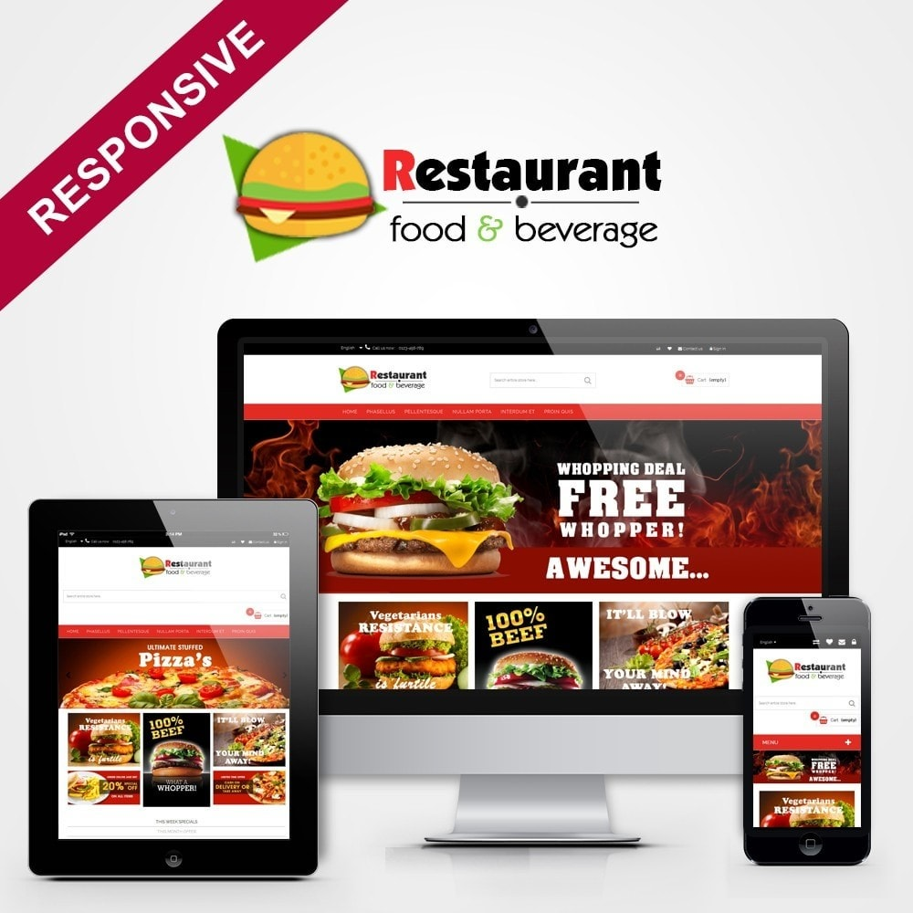 theme - Продовольствие и рестораны - Pizza & Restaurant - 1
