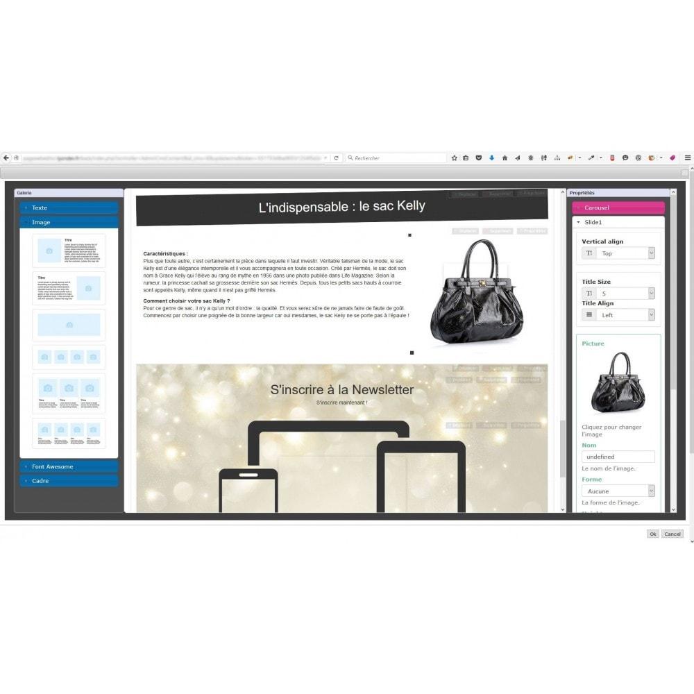 module - Personalización de la página - Responsive Page Web Editor - 5