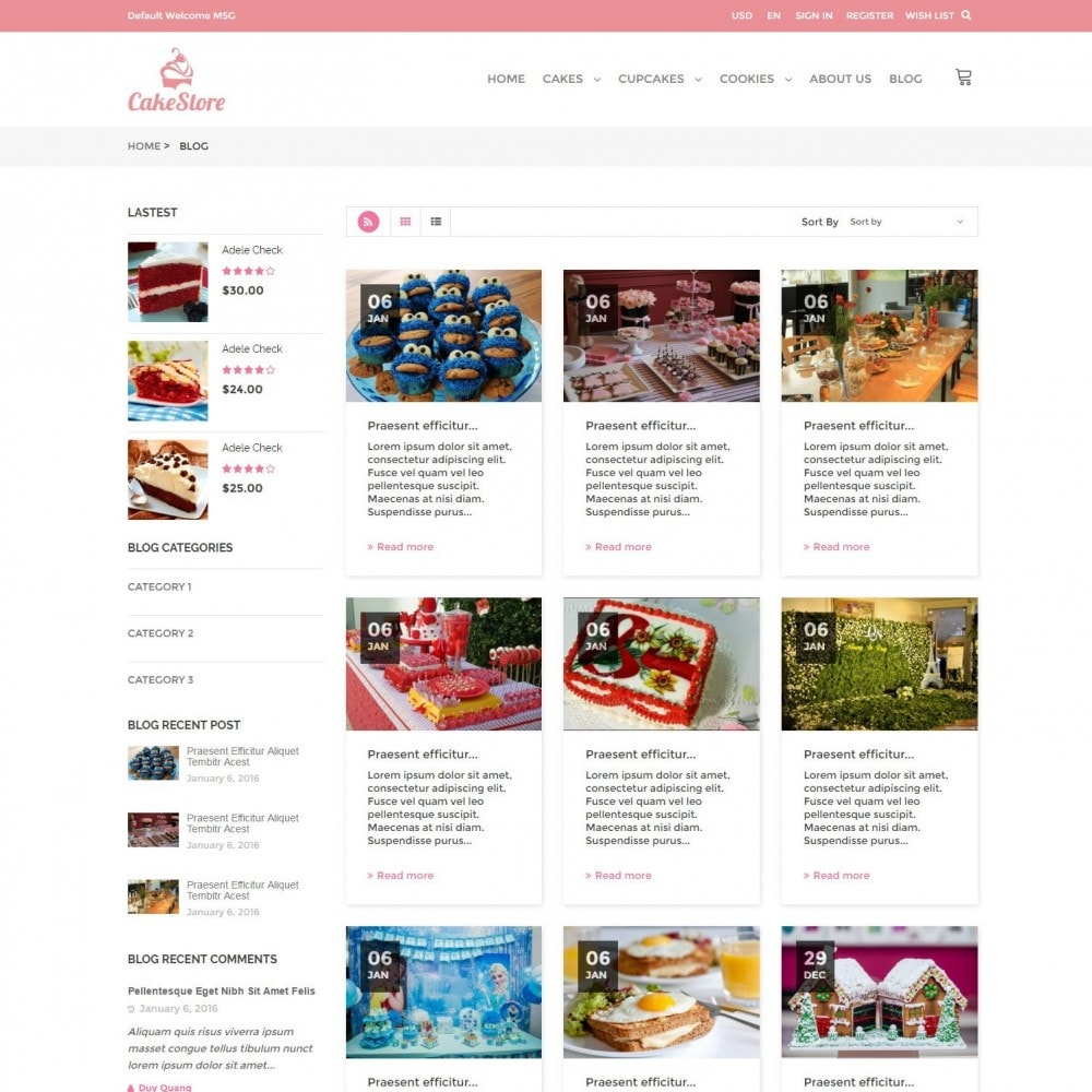 theme - Продовольствие и рестораны - Bakery, Food & Drinks - CakeStore Responsive - 6