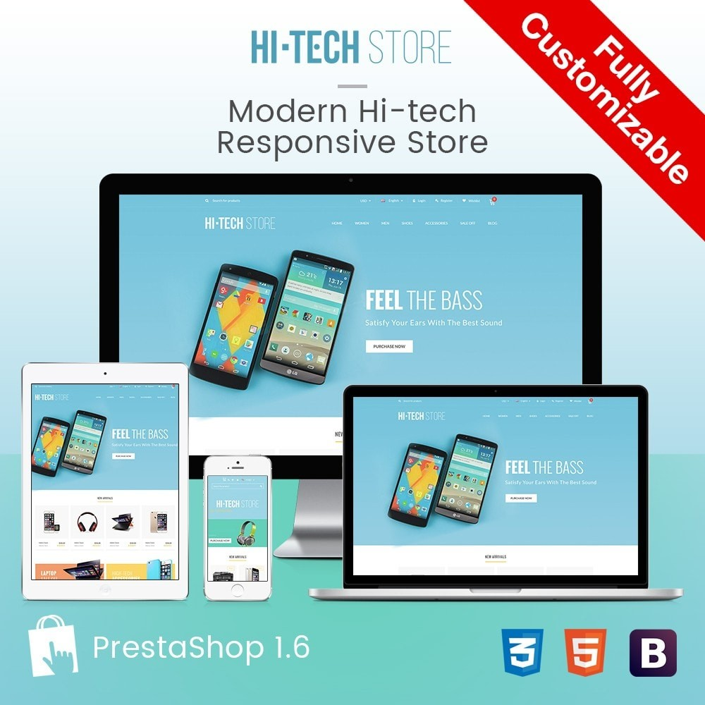 theme - Электроника и компьютеры - Computers & Electronics Hi-Tech Store Responsive - 1