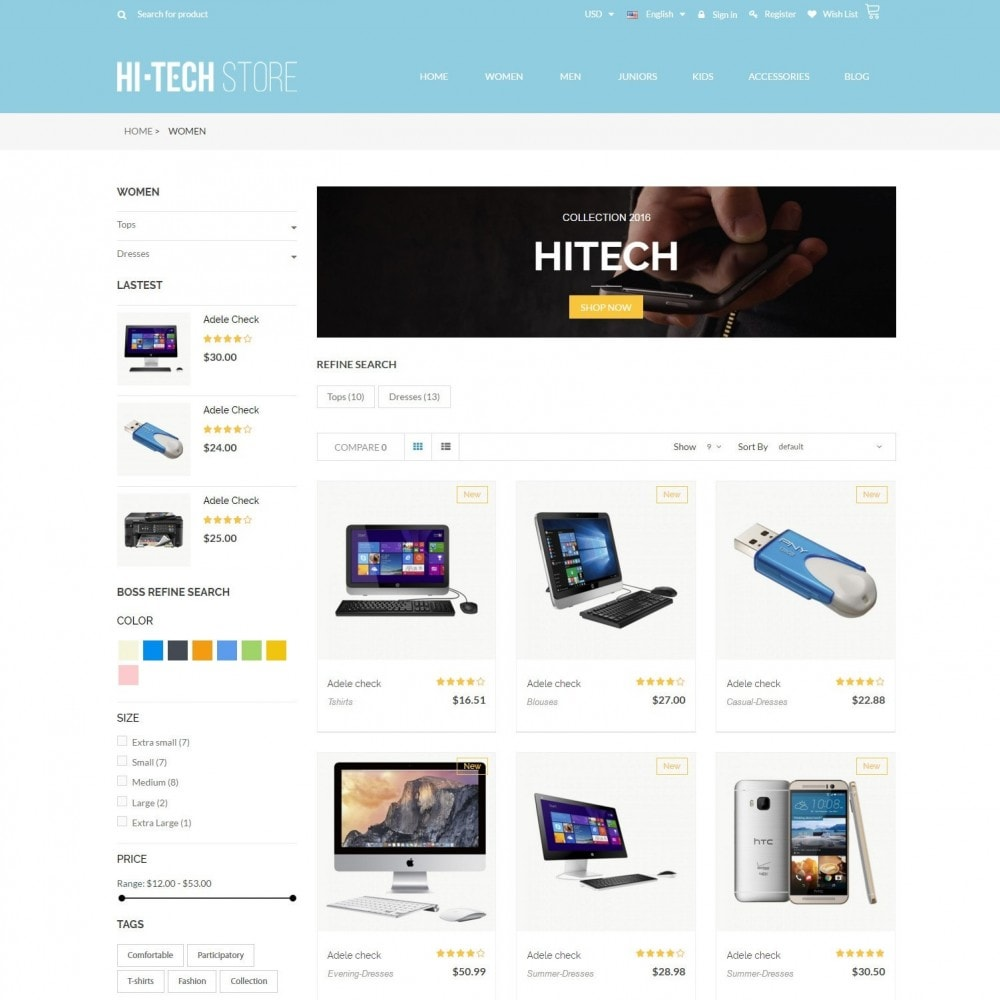 theme - Электроника и компьютеры - Computers & Electronics Hi-Tech Store Responsive - 3
