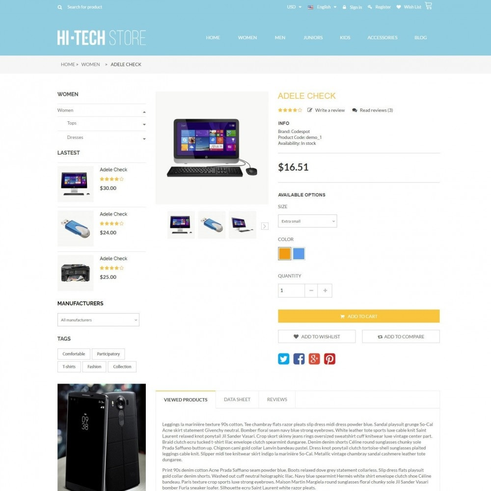 theme - Электроника и компьютеры - Computers & Electronics Hi-Tech Store Responsive - 5