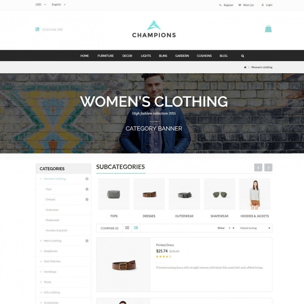 theme - Fashion & Shoes - Parallax Fashion Minimal - Champion Responsive Store - 4