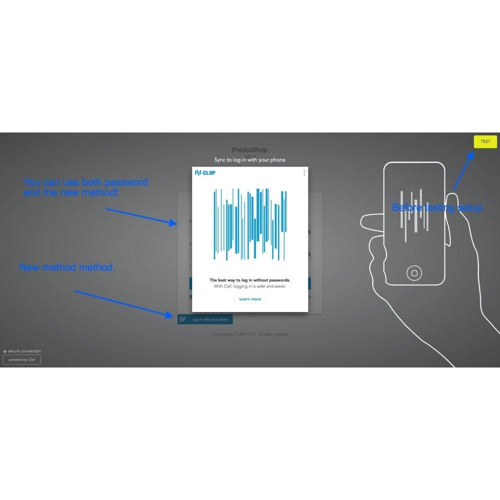 module - Bezpieczeństwa & Dostępu - Clef Secure Login 2-Factor - 2
