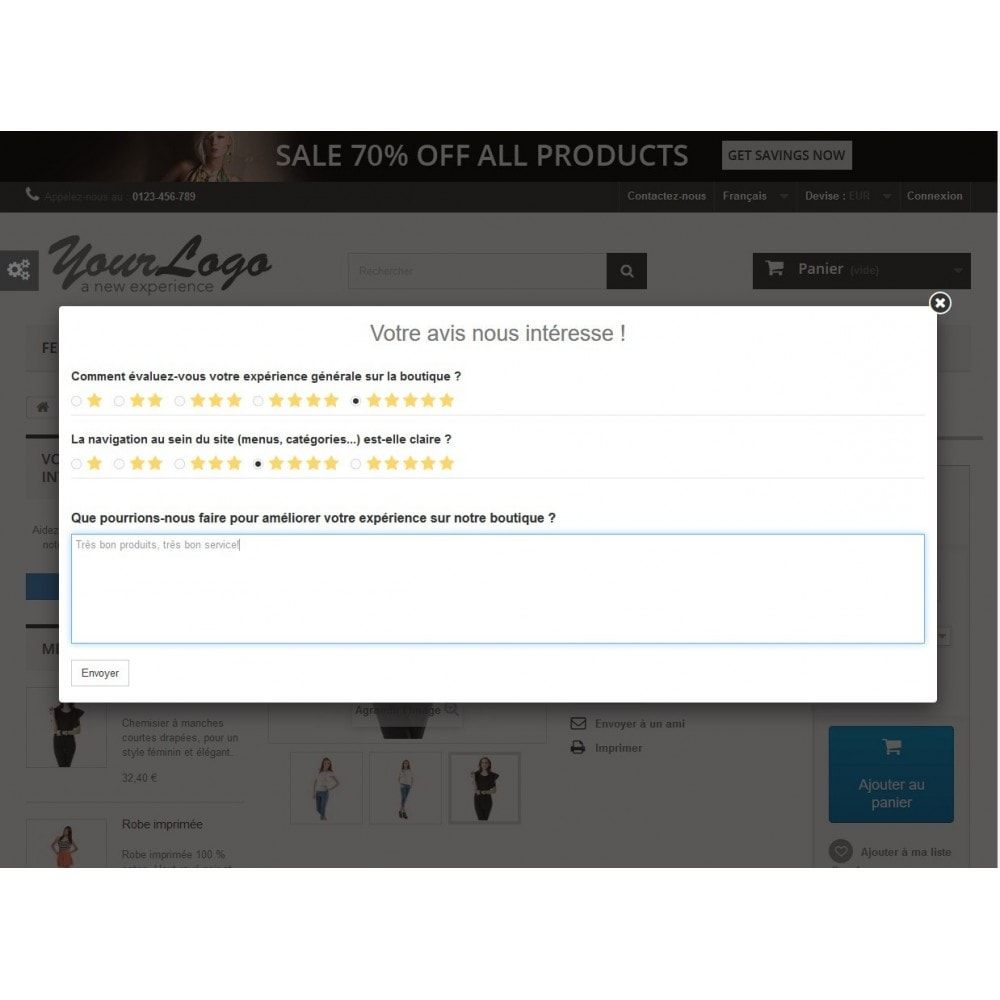 module - Avis clients - Rich Feedback : avis et satisfaction clients - 1