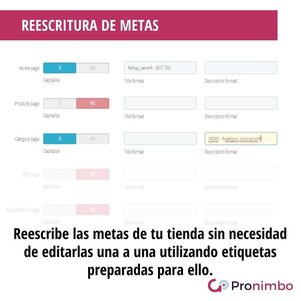 module - SEO (Posicionamiento en buscadores) - Seo Center: Edición Masiva. - 4
