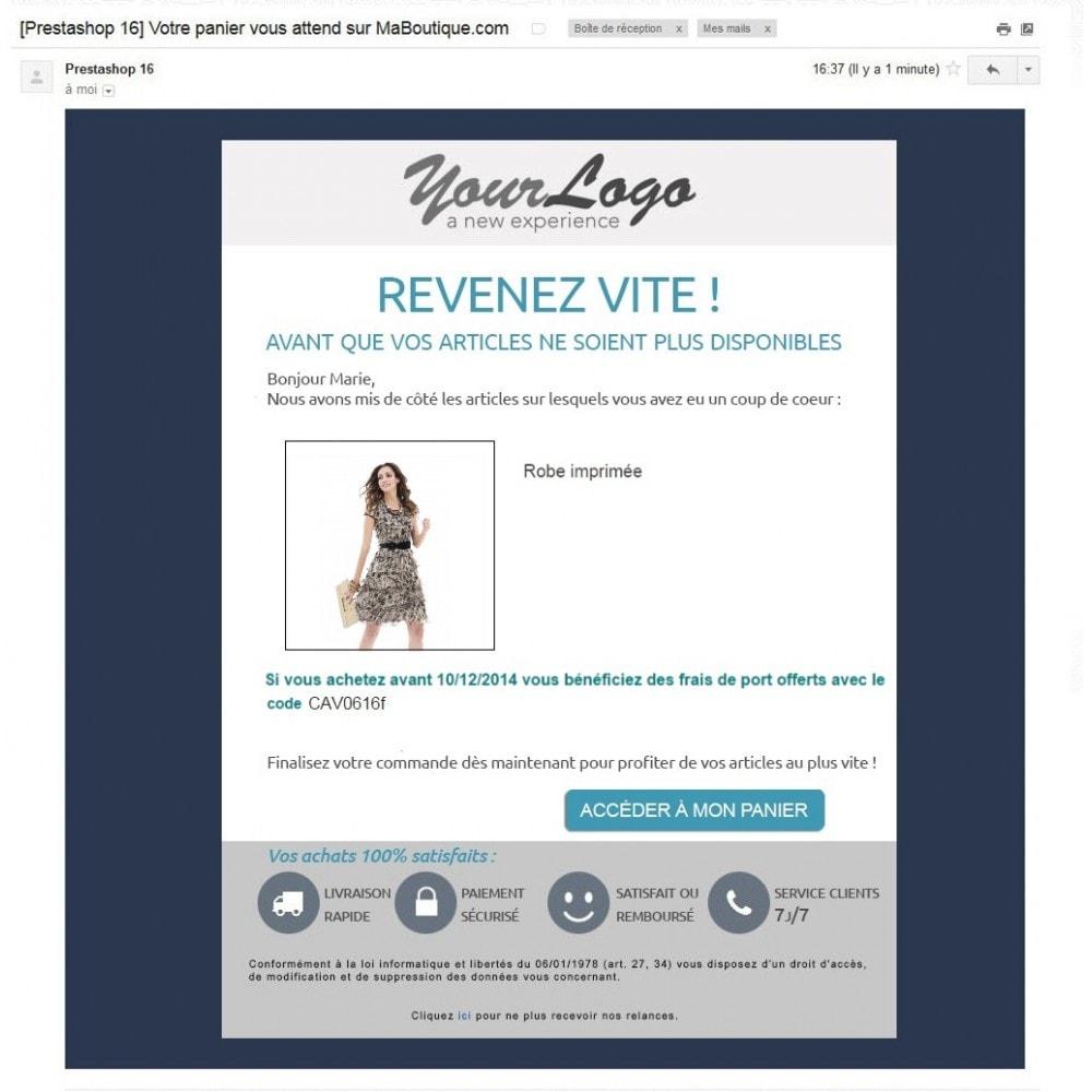 pack - Les offres du moment - Faites des économies ! - Marketing (Pack) : Relance de paniers abandonnés + Mailchimp Newsletter - 7