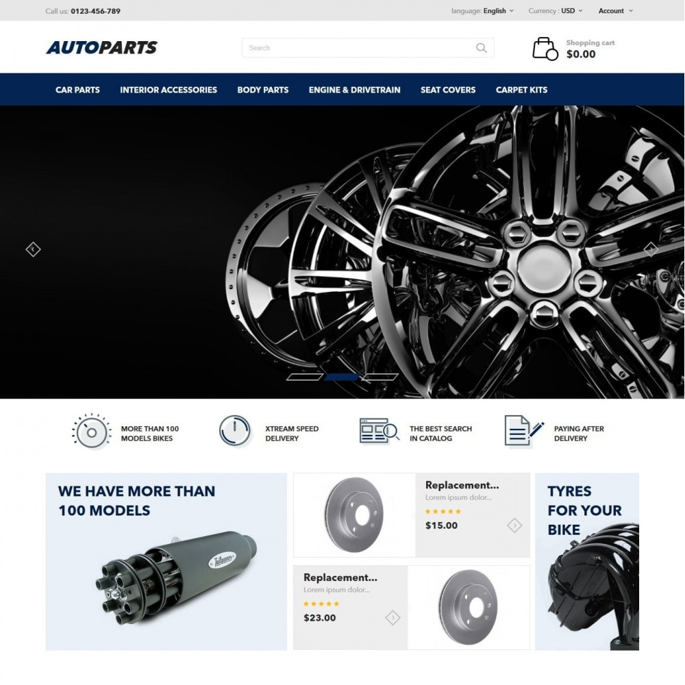 theme - Carros & Motos - AutoParts - 2