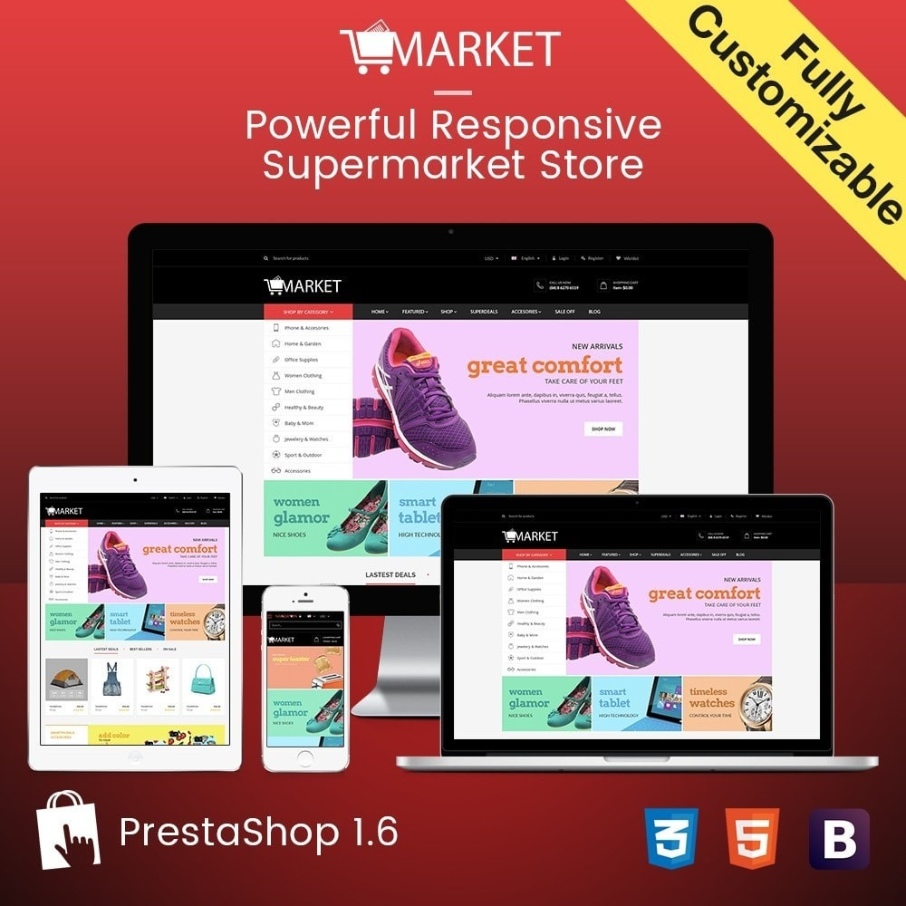 theme - Fashion & Shoes - SuperStore - Fashion, Furniture, Electronic Responsive - 1