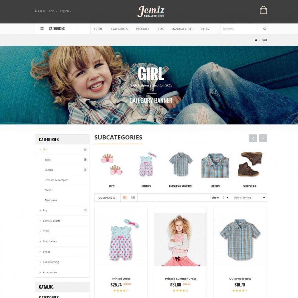 theme - Enfants & Jouets - Jemiz - Childrens,Babies, Kids Fashion Responsive Store - 3