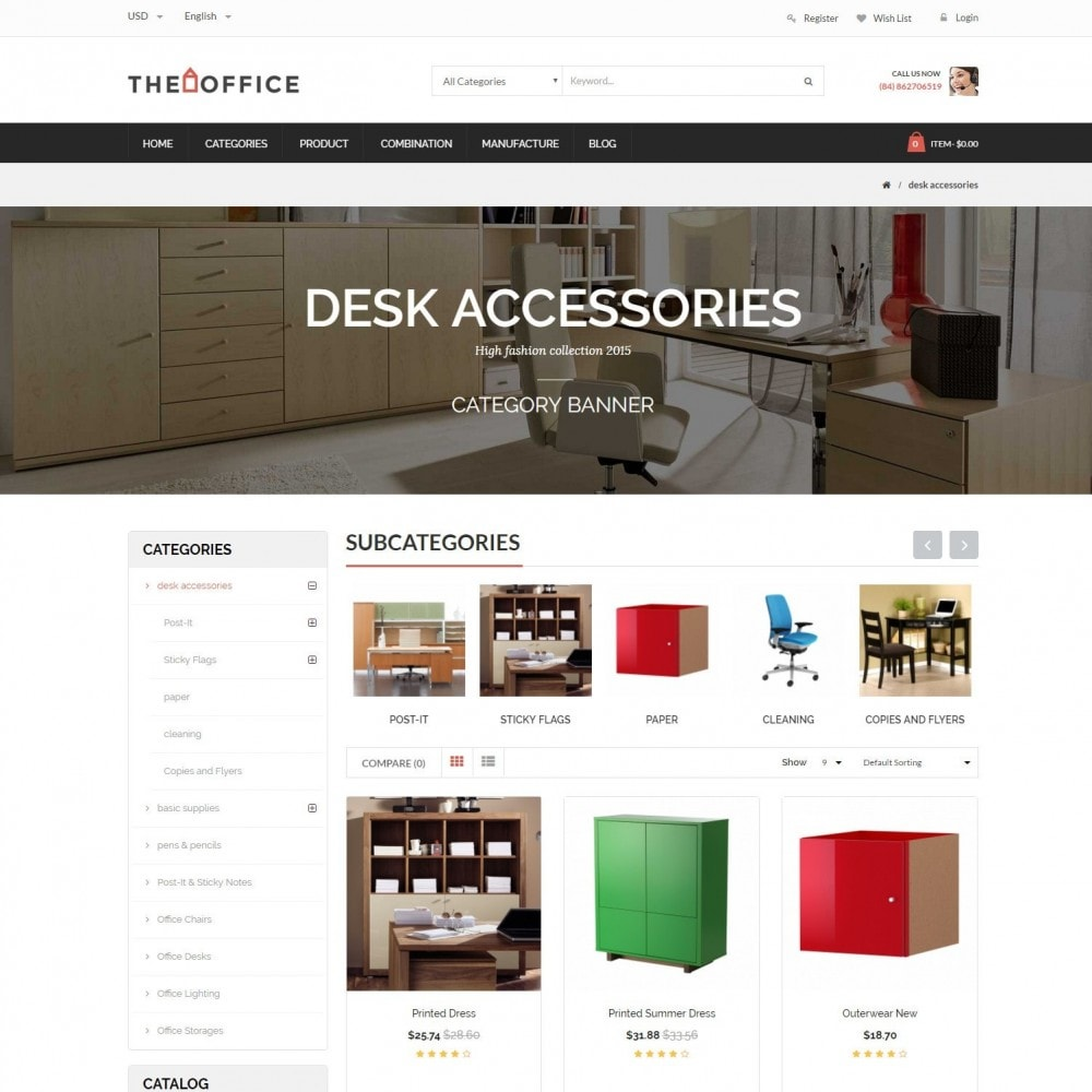 theme - Dom & Ogród - Office - Home, Furniture, Sofas, Wardrobes, Chest Store - 3