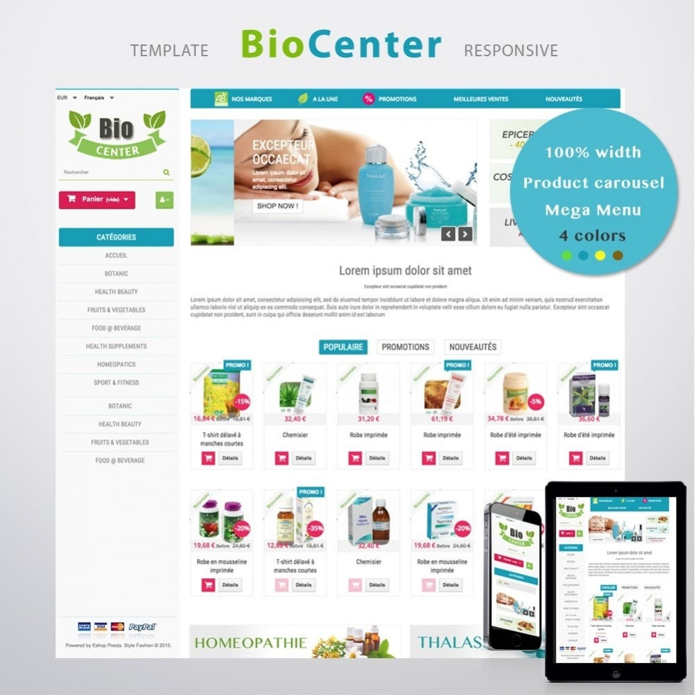 theme - Health & Beauty - BioCenter - 1