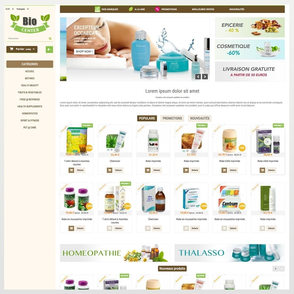theme - Health & Beauty - BioCenter - 3