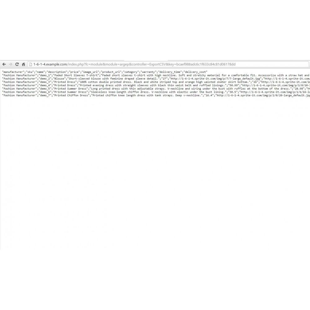 module - Prijsvergelijkers - Argep Product Feed - 3