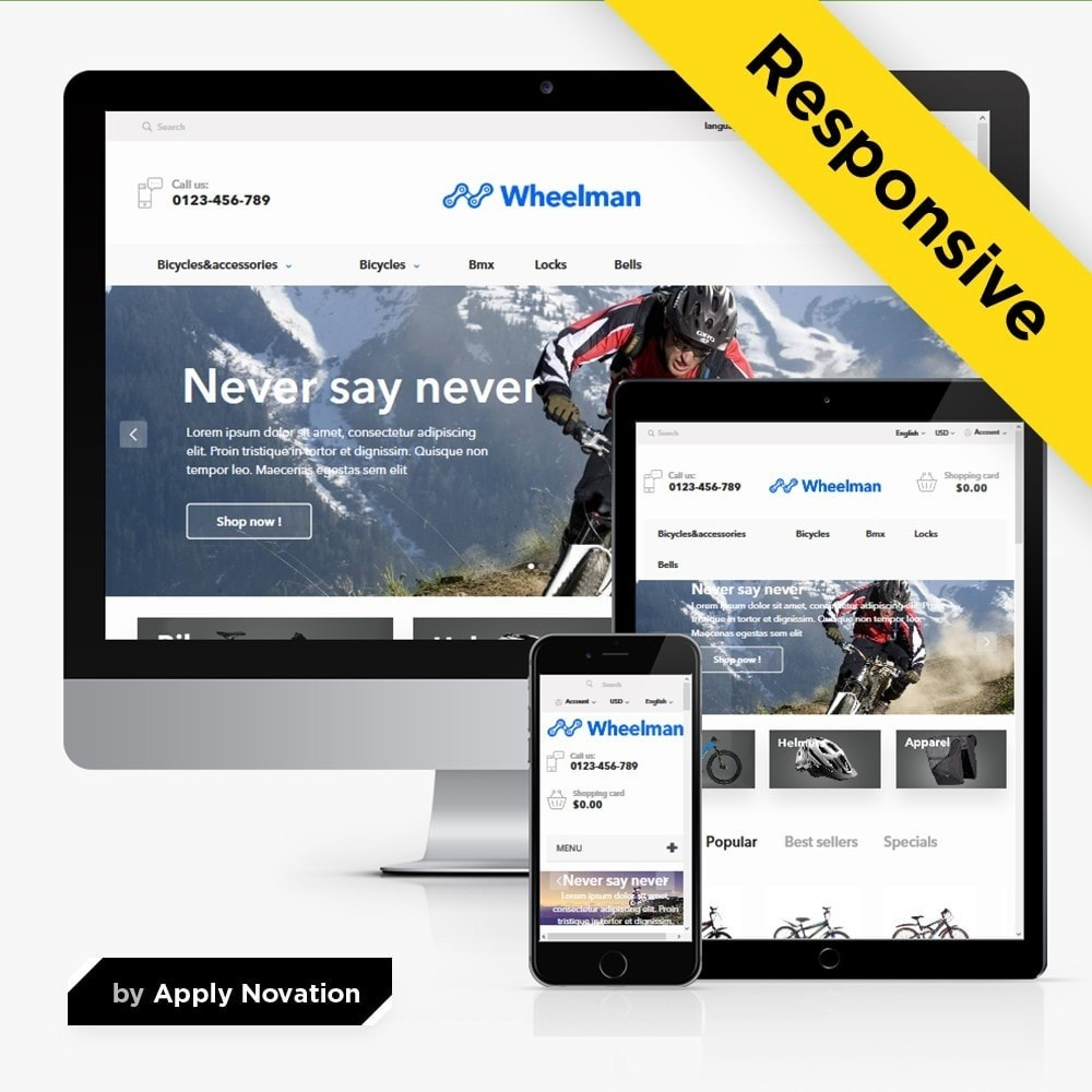 theme - Sport, Loisirs & Voyage - WheelMan Bike Store - 1