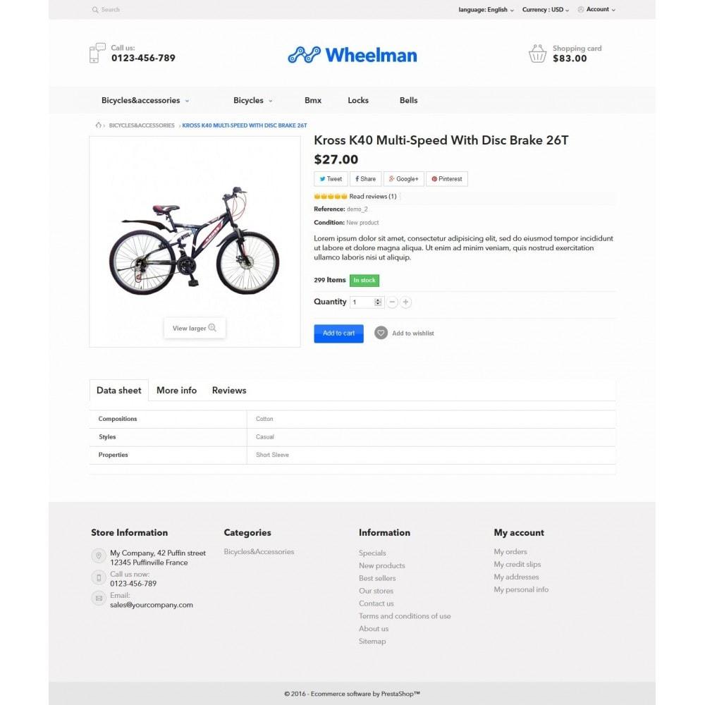 theme - Sport, Loisirs & Voyage - WheelMan Bike Store - 7