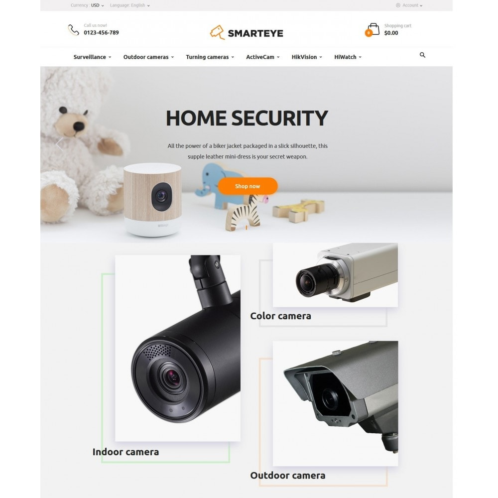 theme - Electrónica e High Tech - SmartEye Security Cameras - 2