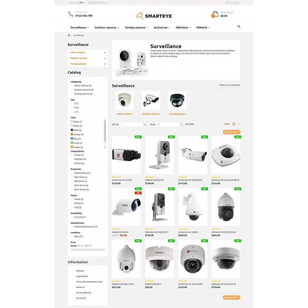 theme - Elettronica & High Tech - SmartEye Security Cameras - 5