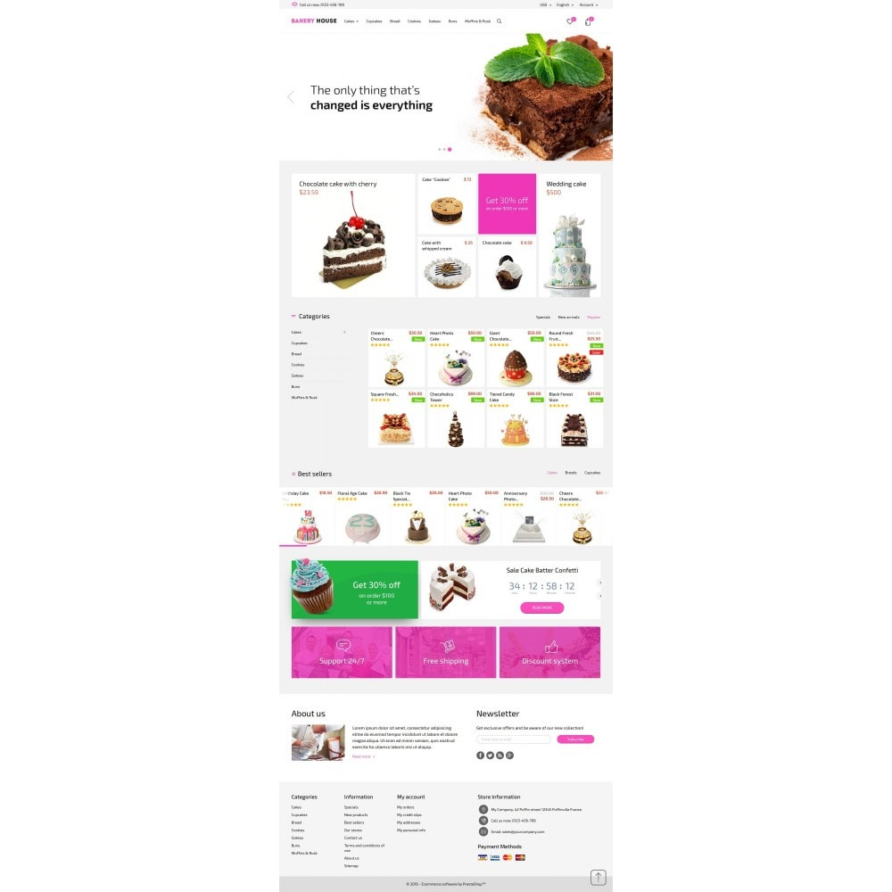 theme - Eten & Restaurant - Bakery House Sweet Shop - 4